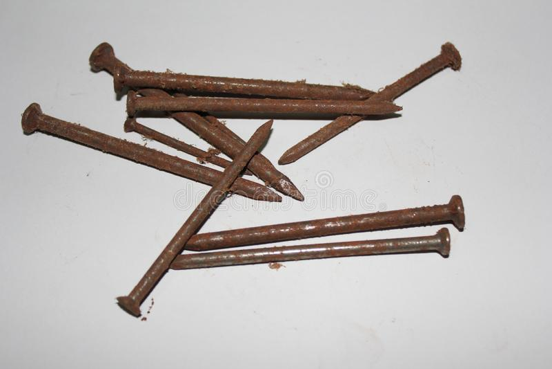 Rusty nail royalty free stock images