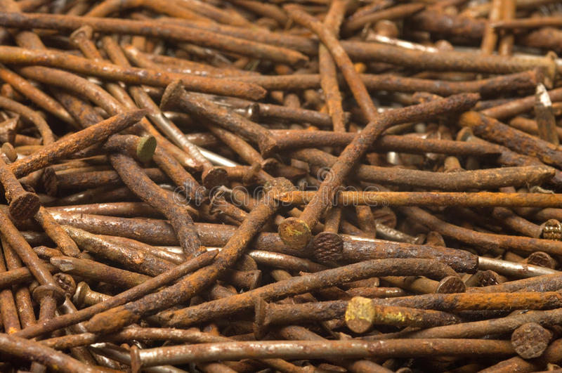 Download Rusty nails. stock image. Image of structure, rust, junk - 15472113