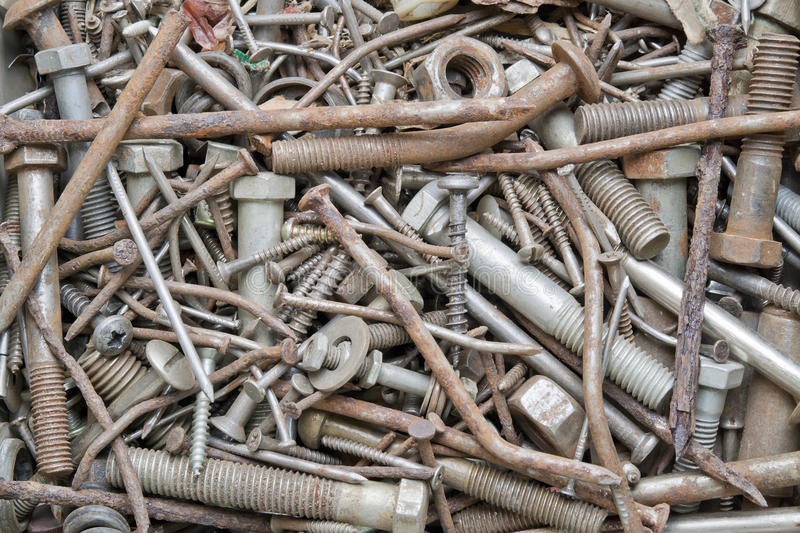 Download Rusty nails and screws stock image. Image of lost, nails - 19372373