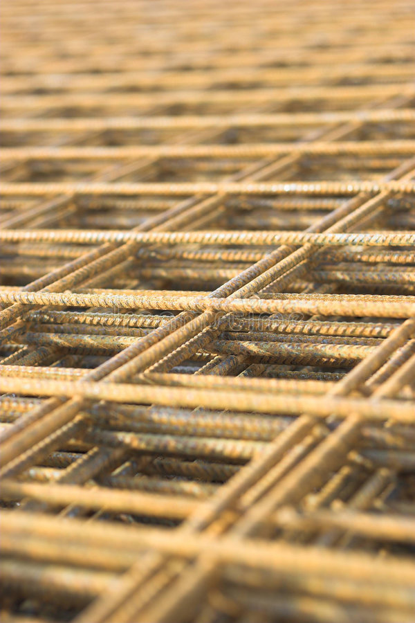 rusty netto żelaza obrazy stock