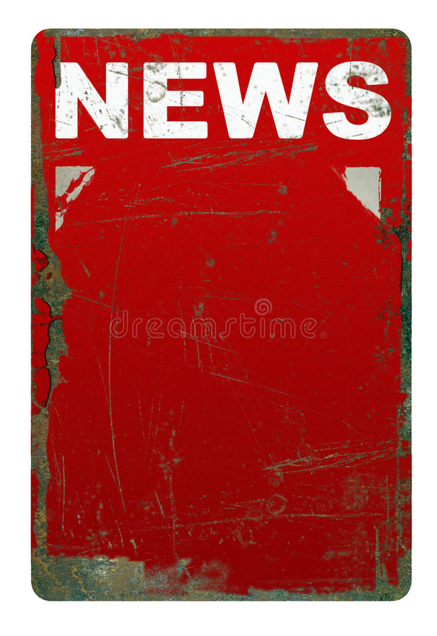 Download Rusty News Sign Stock Photo - Image: 26086230