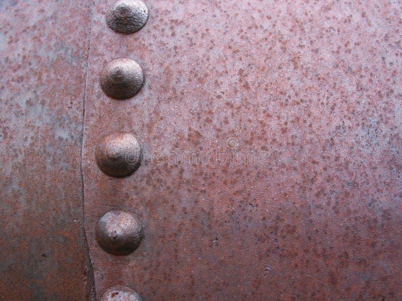 rusty nituje metali fotografia royalty free