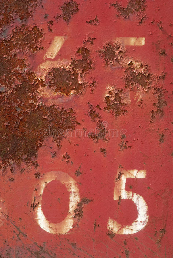 Free Rusty Number 5 Royalty Free Stock Image - 21111116