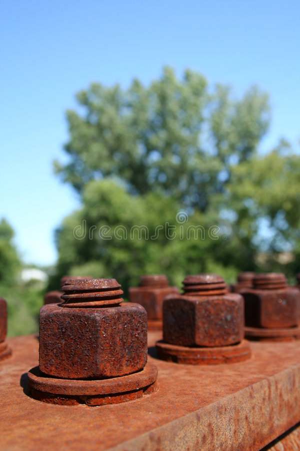 Rusty Nuts and Bolts royalty free stock photo