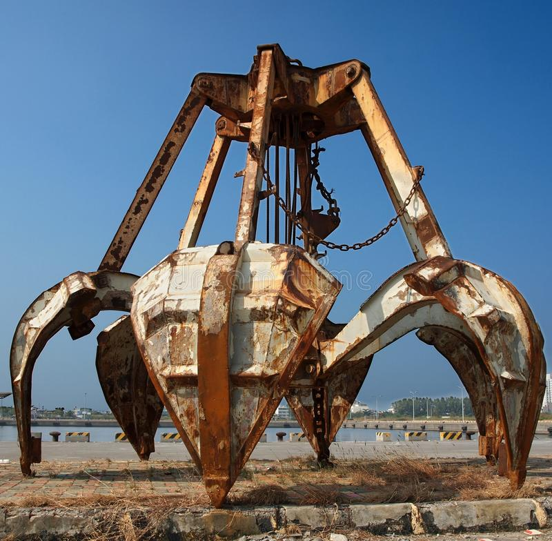 Rusty Obsolete Dredging Equipment stock images
