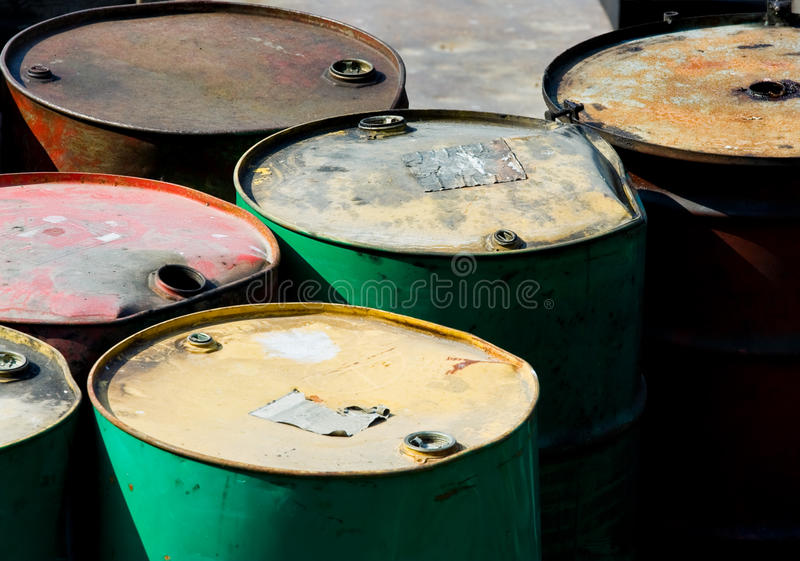 Rusty oil barrels. An image of some rusty oil barrels stock photography