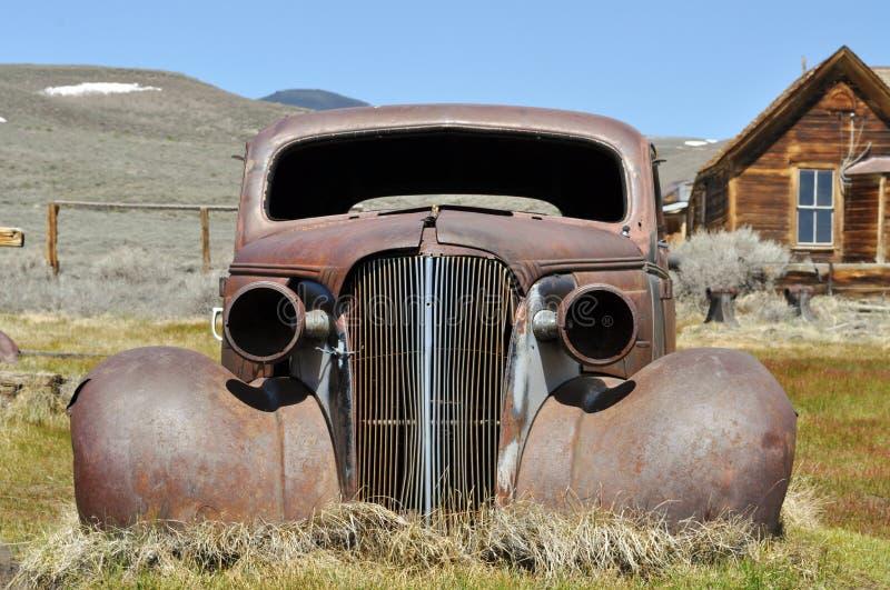 Rusty old car stock photos