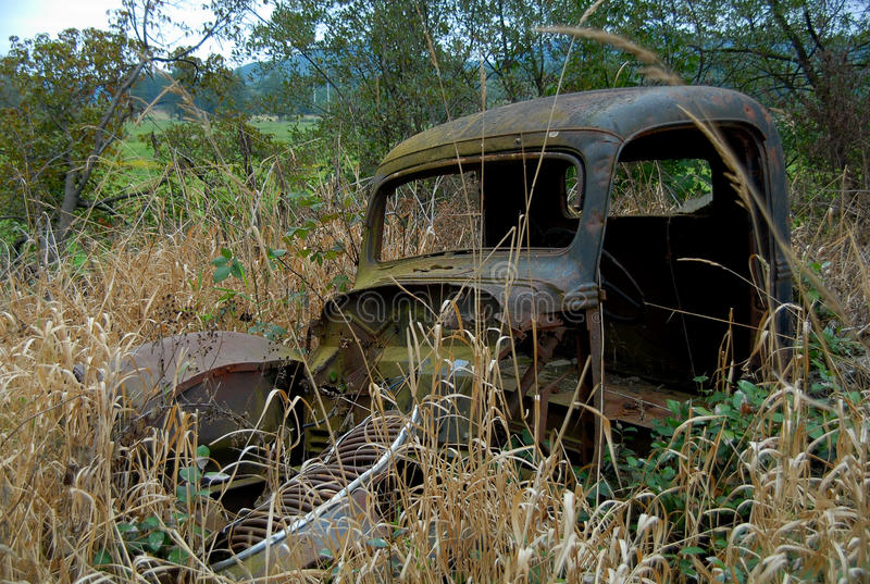 Rusty Old Car stock images
