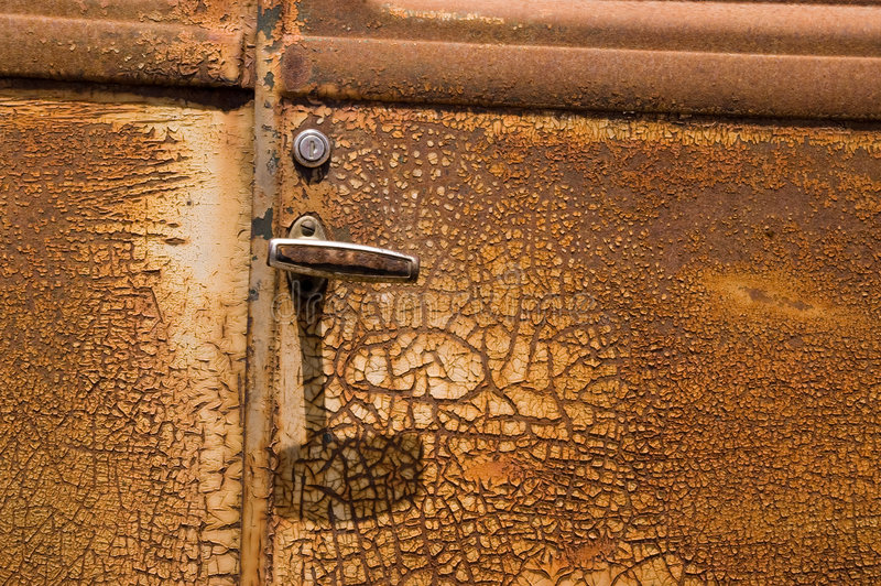 Rusty Old Car Door royalty free stock photos