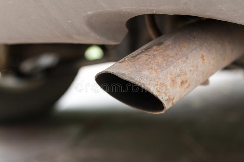 Car exhaust pipe royalty free stock photos