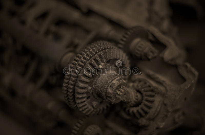 Rusty old engine royalty free stock photos