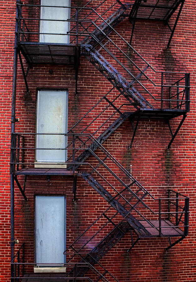 Rusty Old Fire Escape photographie stock