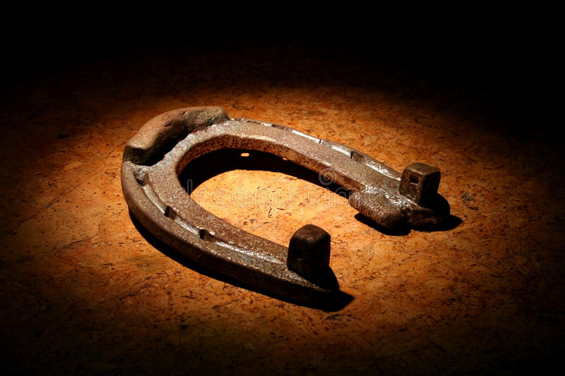 Rusty old horseshoe royalty free stock photos