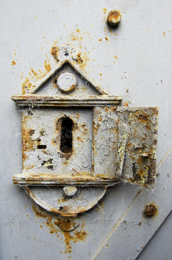 Download Rusty old keyhole stock image. Image of keyhole, door - 22611569