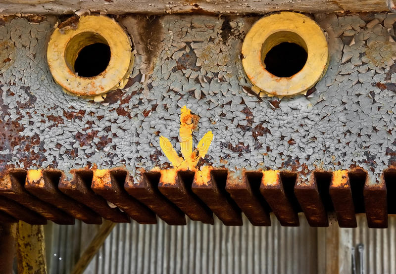 Download Rusty old machinery stock image. Image of peel, empty - 12894051