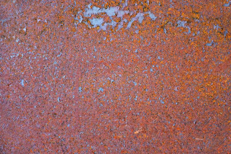 Rusty old metal sheet. Abstract textured background royalty free stock photography