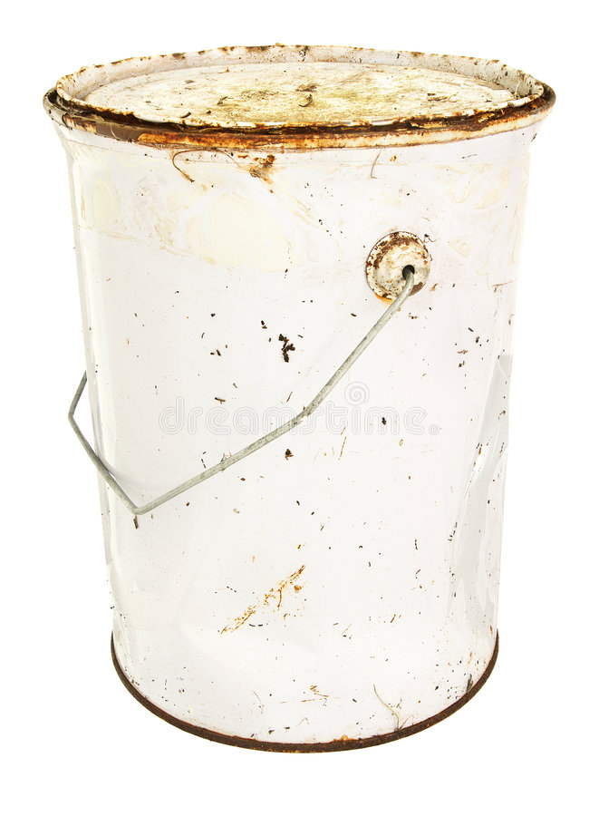 Free Rusty Old Paint Tin Royalty Free Stock Images - 8860499