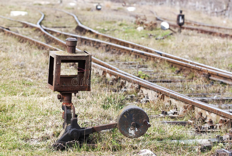 Rusty old switch - RAW format stock photography