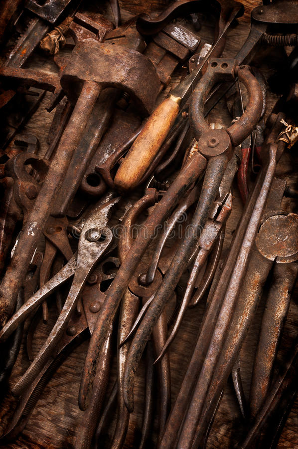 Download Rusty Old Tools stock image. Image of pliers, worn, background - 22626747