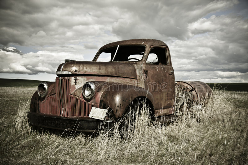 Rusty old truck royalty free stock image