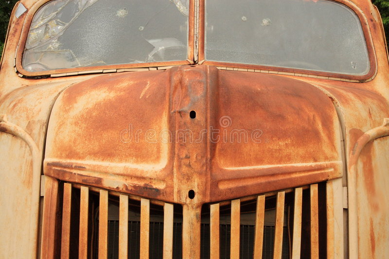 Rusty old truck stock photo