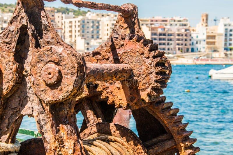 Rusty Old Winch stockbilder
