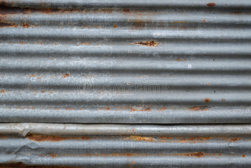 Rusty old zinc texture stock image