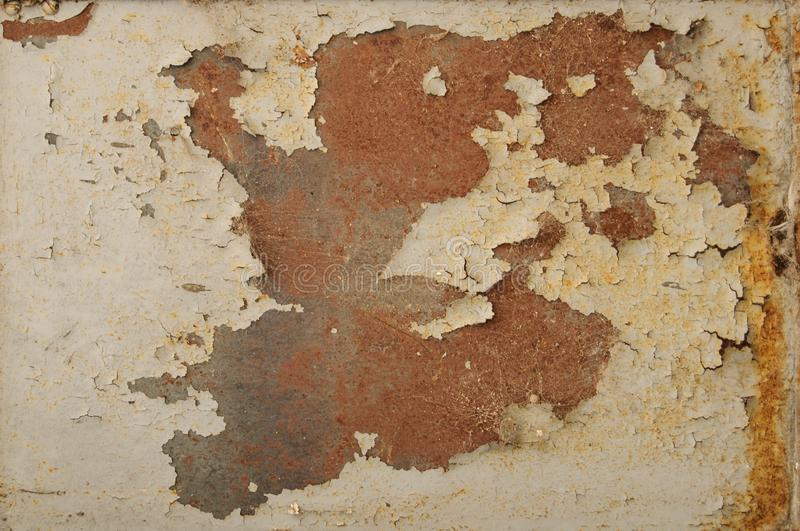 Rusty Paint Peeling Old Green Vintage Metal Door Texture for background and design art work. Green Metal Paint Peeling Old Vintage Texture for background and royalty free stock photos