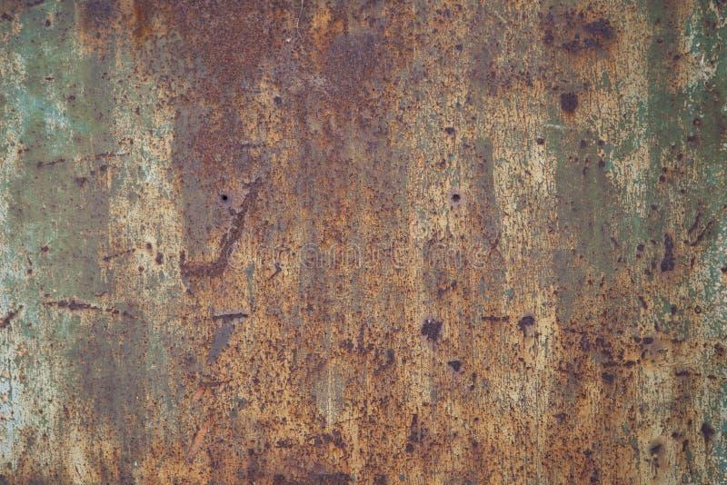 rusty panel metali fotografia stock