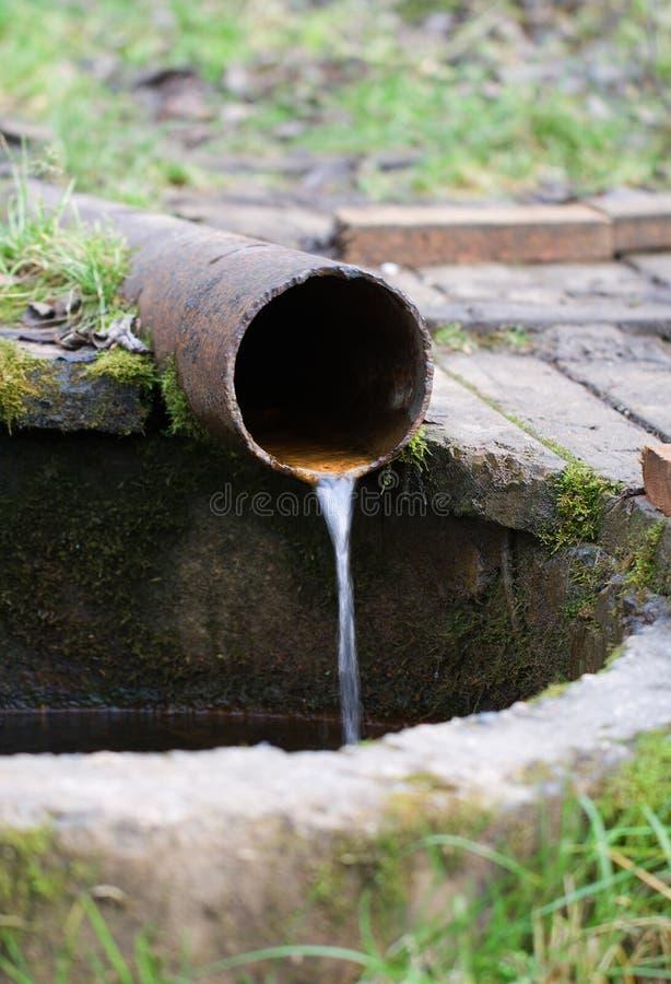 Rusty pipe stock photo