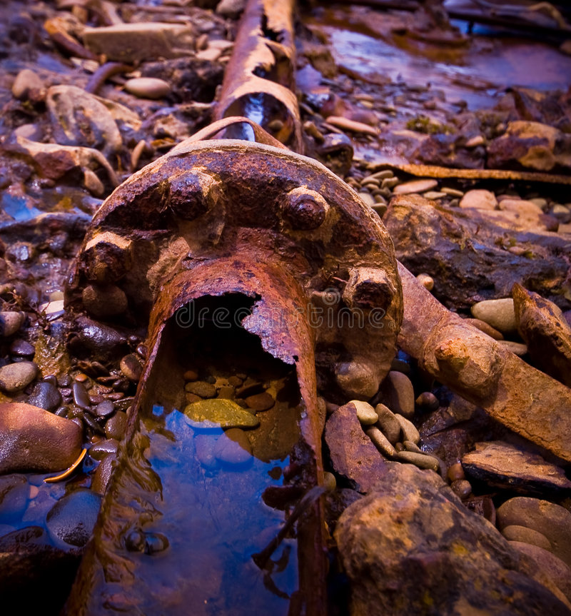 Rusty pipes royalty free stock photo