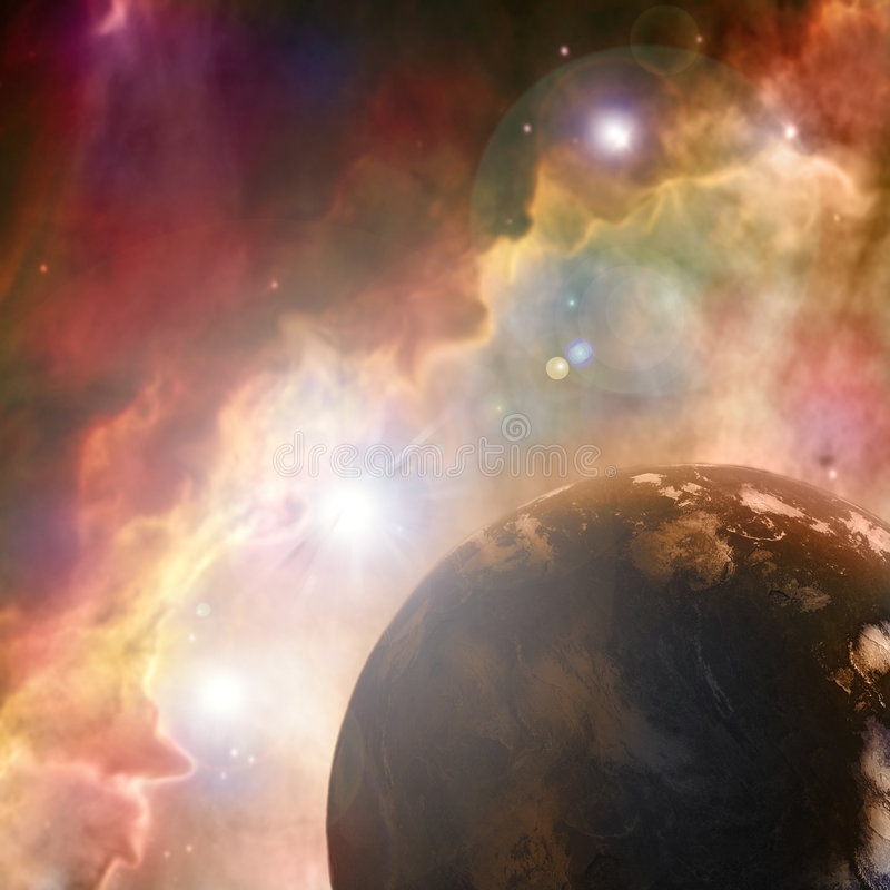 Rusty planet royalty free stock image