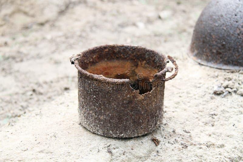 Rusty Pot Royalty Free Stock Photos