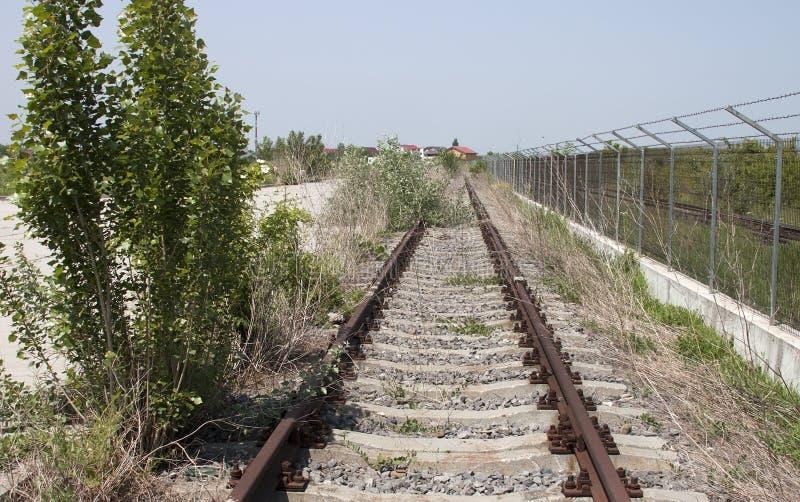 Rusty railway - RAW format stock photo
