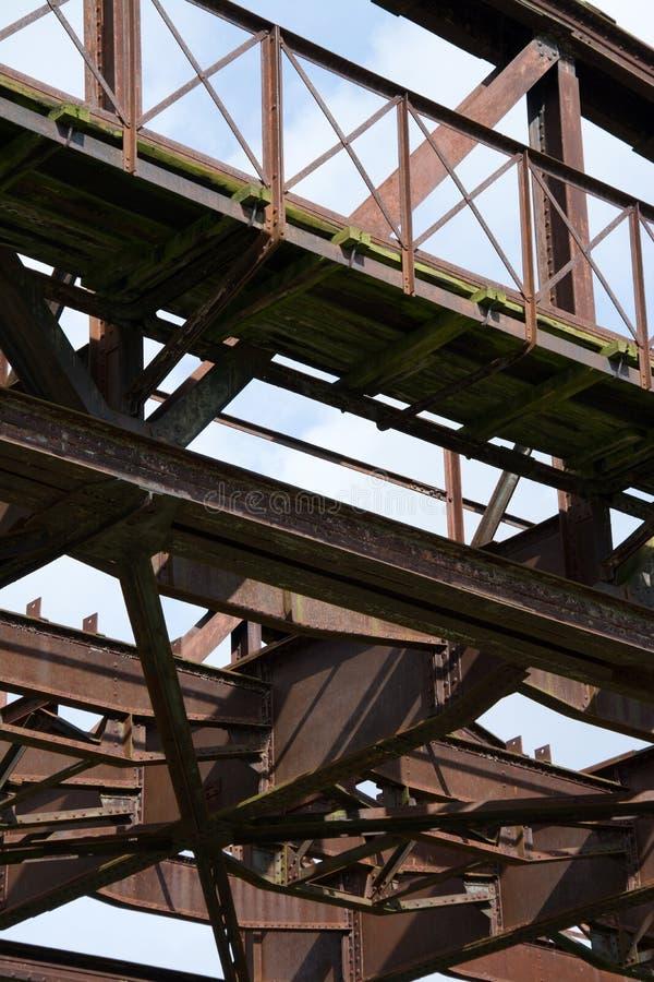 Rusty Railway Bridge fotografia stock libera da diritti