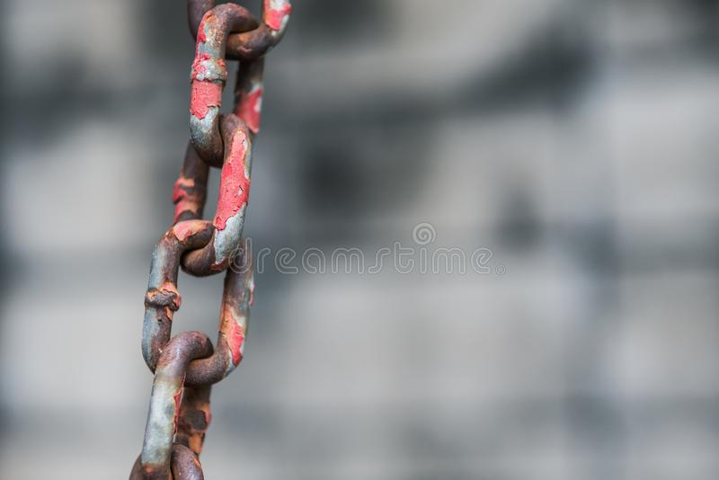 Rusty Red Metal Chain Background fotos de archivo libres de regalías