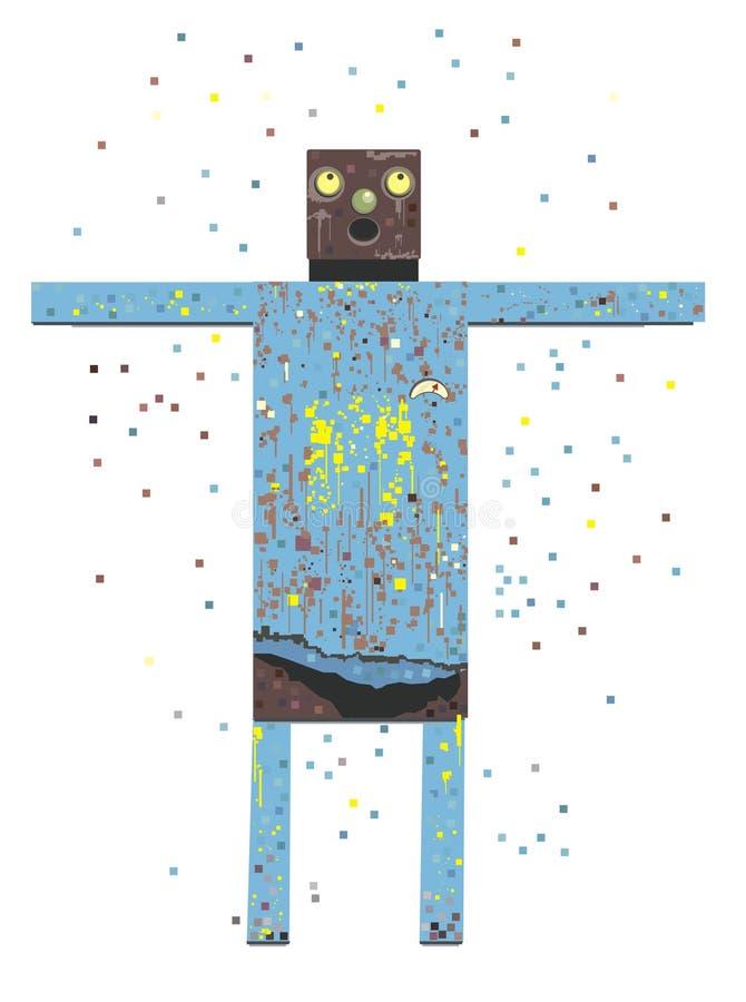Rusty Robot vector illustration