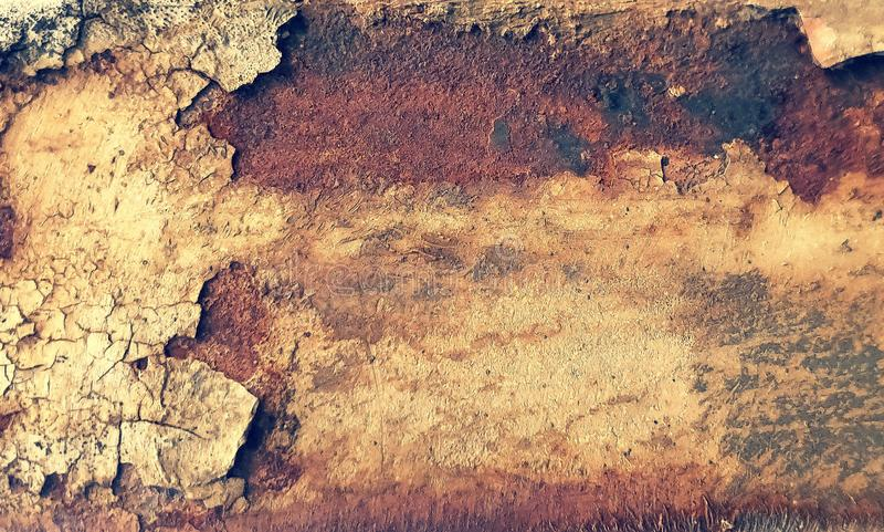 Rusty shabby chic metal texture background stock photography