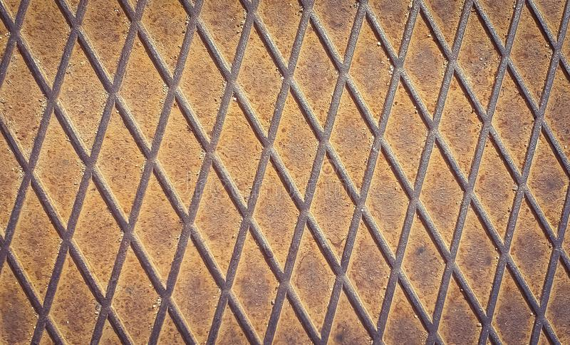 Rusty shabby chic metal texture background stock images