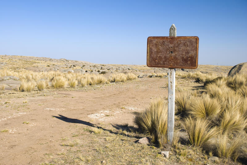 Download Rusty Sign and Road stock image. Image of gravel, cordoba - 23371037