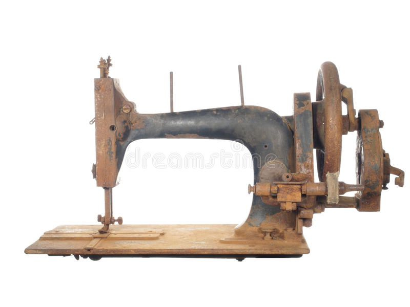 Download Rusty Skeleton Of An Ancient Sewing Machine. Stock Photo - Image: 26363952