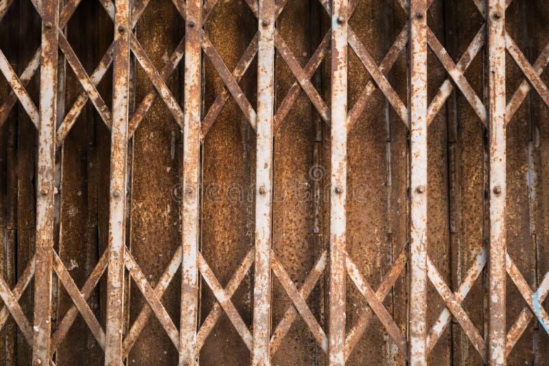 Rusty Sliding Steel Gate imágenes de archivo libres de regalías