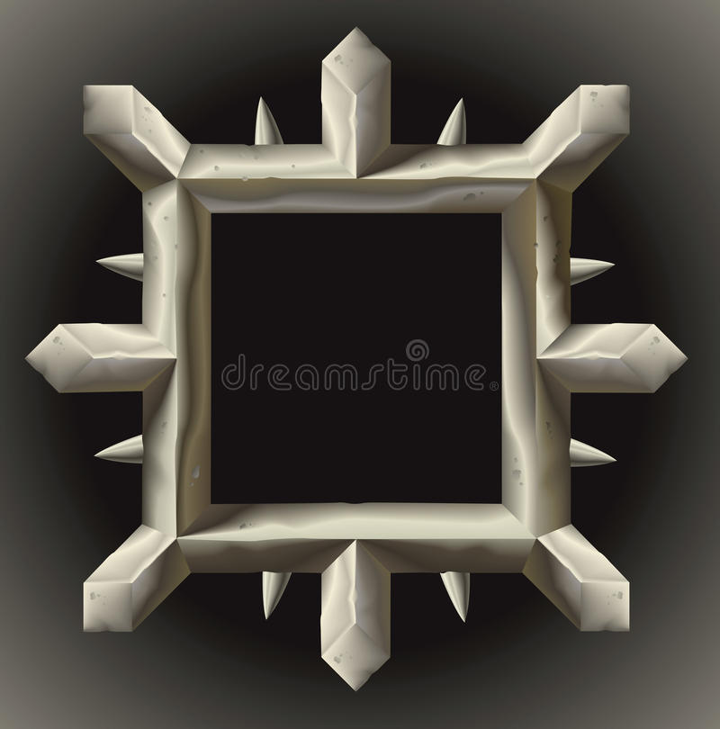 Download Rusty Spiky Metal Frame Border Stock Vector - Image: 19257366