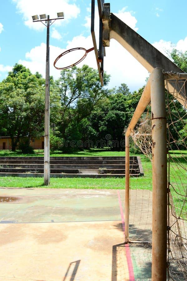 Rusty sports court royalty free stock photo