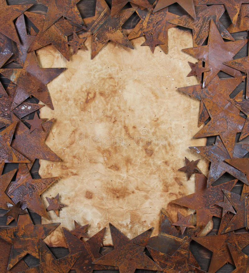 Download Rusty Stars Framing Old Paper Stock Image - Image: 24080691