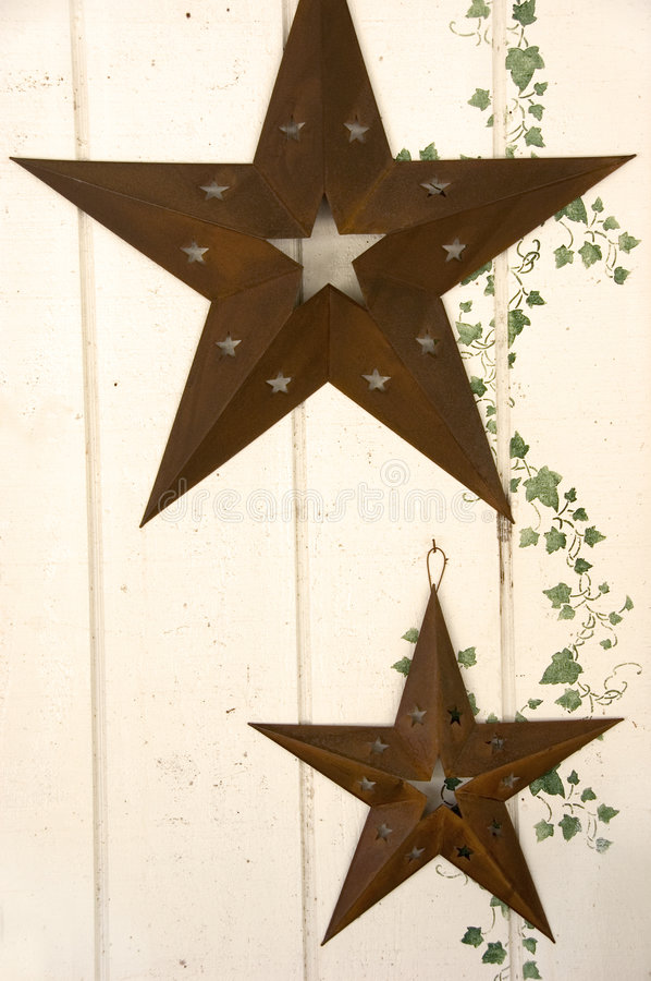 Download Rusty stars and ivy motif stock image. Image of wall, decor - 2440065