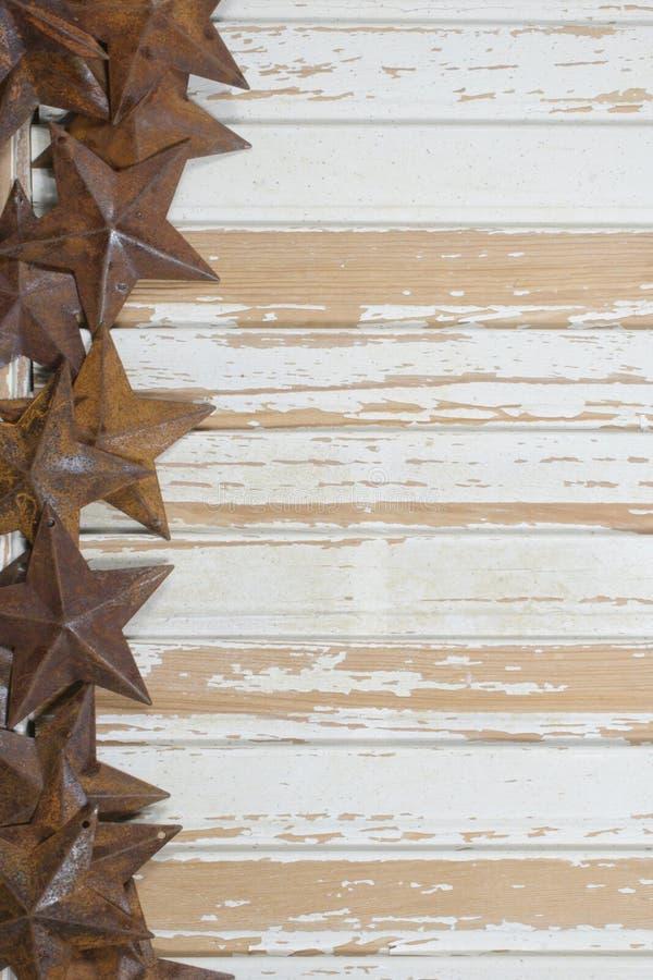 Rusty stars on White royalty free stock photo