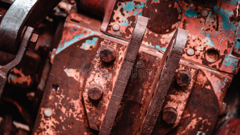 Rusty Steel Joints Texture Background stock photography