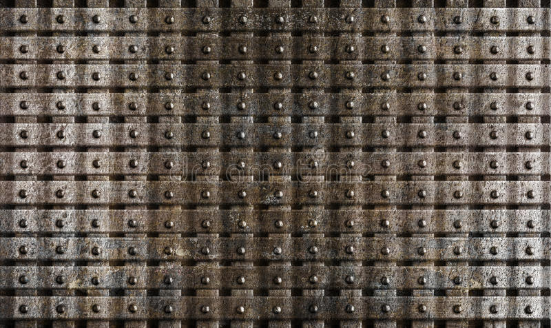 Rusty steel metal medieval armour background royalty free stock images