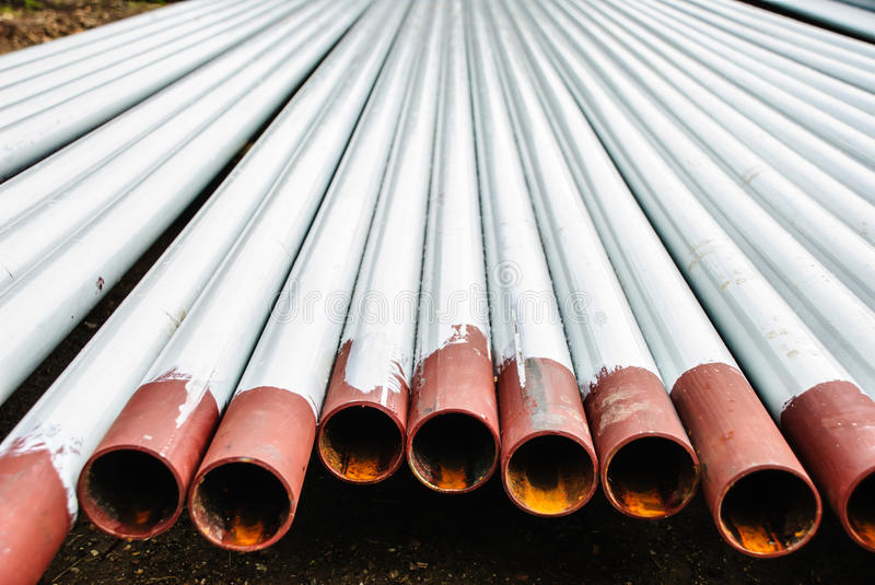 Rusty steel pipes royalty free stock photography